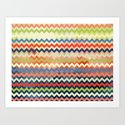 Watercolor Chevron Art Print