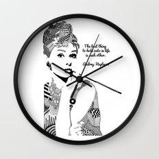 Audrey Hepburn - the best thing Wall Clock