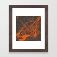 Montreal Orange Framed Art Print