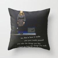 regina spektor live in toronto - on the radio Throw Pillow