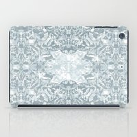 Lace Geometric // Kaleidoscope of blues iPad Case
