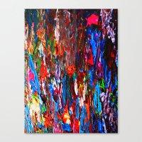 Color Mix / Palette Knif… Canvas Print