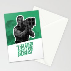 Badass 80's Action Movie Quotes - Commando Stationery Cards