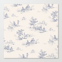 Animal Jouy Canvas Print