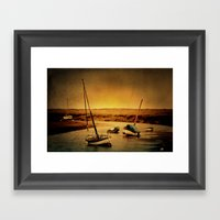Blakeney Boats Framed Art Print