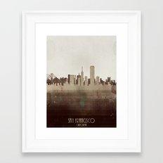 san francisco california Framed Art Print
