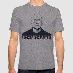Schmohawk  |  Larry David   Mens Fitted Tee Tri-Grey SMALL