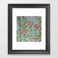 Flowering Vines Framed Art Print