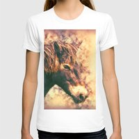 Painted Exmoor Pony Womens Fitted Tee White SMALL