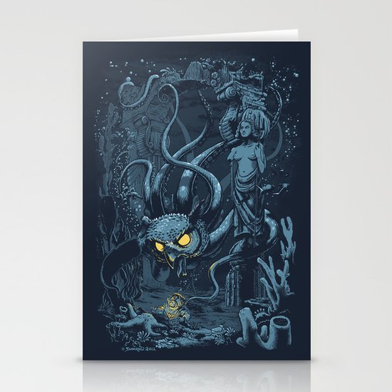 Defender of the Deep  Stationery Card