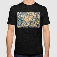 Starry Wishes And Bokeh … Mens Fitted Tee Tri-Black SMALL
