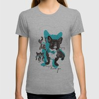 Chauncey Loves You - French Bulldog Womens Fitted Tee Athletic Grey SMALL