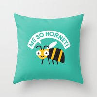 Full Metal Yellow Jacket Throw Pillow
