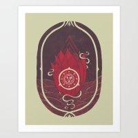 Pulsatilla Patens In Red Art Print
