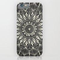 Vintage Mandala On Black iPhone 6 Slim Case