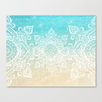 Beach Mandala Canvas Print