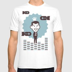 Businessman White Mens Fitted Tee SMALL