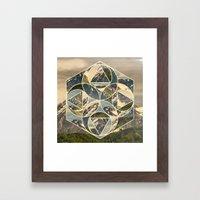 Geometric mountains 1 Framed Art Print