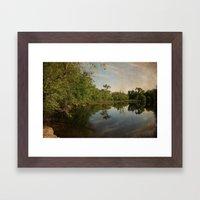 Concord River Framed Art Print