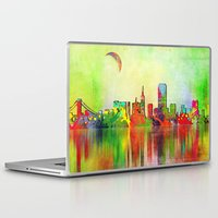 san francisco Laptop & iPad Skins featuring san francisco by mark ashkenazi
