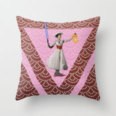 What if Mary was Back to the Future in StarWars to present the LionKing ? Throw Pillow