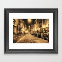 Streets Of Mannheim Framed Art Print