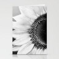 B&W Sunflower Stationery Cards