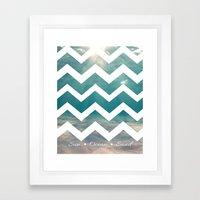 Summer Underwater Framed Art Print