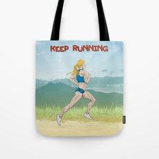 Keep Running Tote Bag