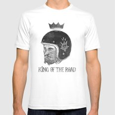 King of the Road White SMALL Mens Fitted Tee