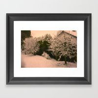 Blurred Winter Nights. Framed Art Print
