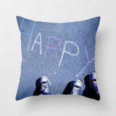 H A P P Y Throw Pillow