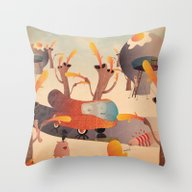 Throw Pillow featuring Wurstel Machine by Marco Puccini