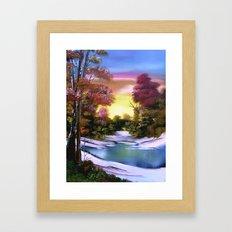 First Snows of Autumn Framed Art Print