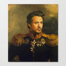 Robert Downey Jr. - replaceface Canvas Print
