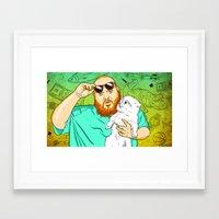 Action Bronson in the Kitchen Framed Art Print