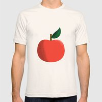 Apple 01 Mens Fitted Tee Natural SMALL