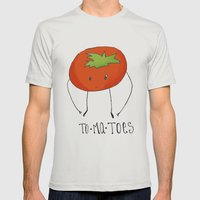 To-ma-toes Mens Fitted Tee Silver SMALL