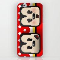 sweethearts, mickey and minnie iPhone & iPod Skin
