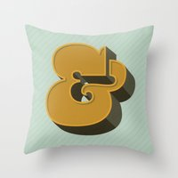 Heavy Ampersand Throw Pillow