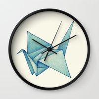 High Hopes   Origami Crane Wall Clock