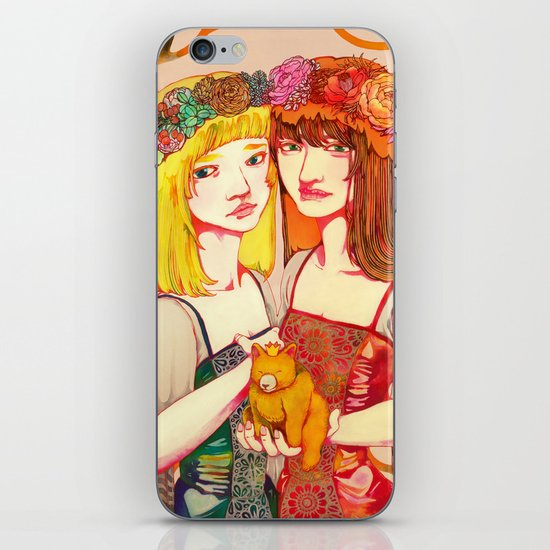 Snow White and Rose Red iPhone & iPod Skin