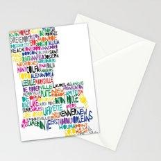Louisiana Typography Stationery Cards