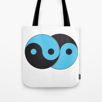Reflections Of Yin And Y… Tote Bag