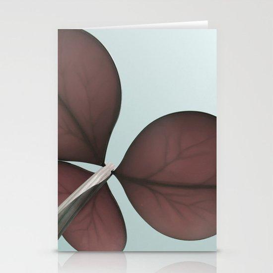 three leaf clover Stationery Card