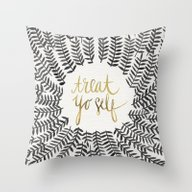 Treat Yo Self – Black … Throw Pillow