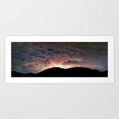 Thunder Mountain Awakens Art Print