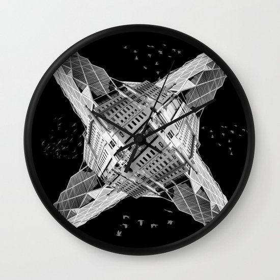 kaleidoscope  architecture Wall Clock