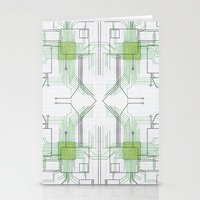 Circuit Board Green Repe… Stationery Cards
