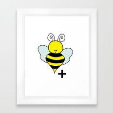 Bee Positive Framed Art Print
